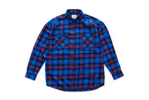 Flannel Check Shirts (Blue)