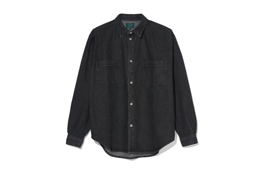 Denim Shirt Jacket (Black)