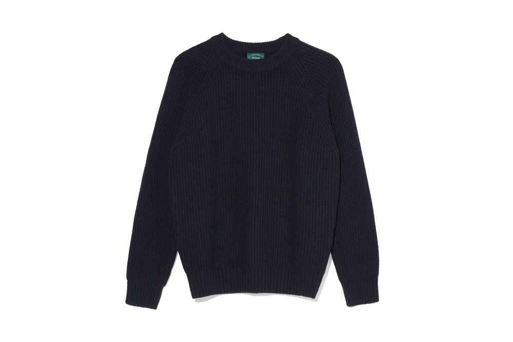 Wool Crew Neck Knit(Navy)