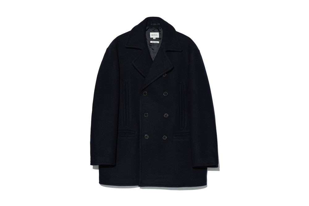 Wool Pea Coat(Navy)